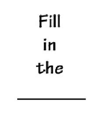 Fill in the ______