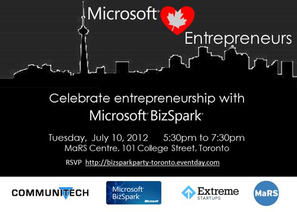 Microsoft <3 Entrepreneurs - WPC Party