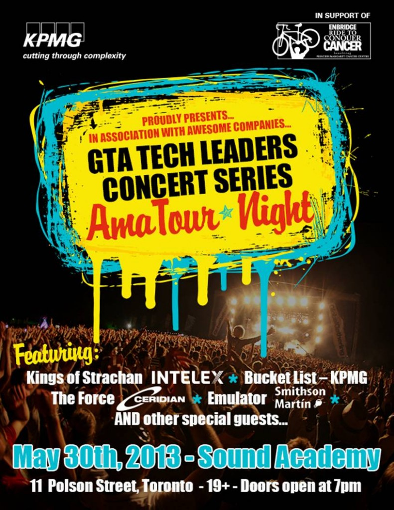 May 30, 2013 - GTA Tech Leaders Concert