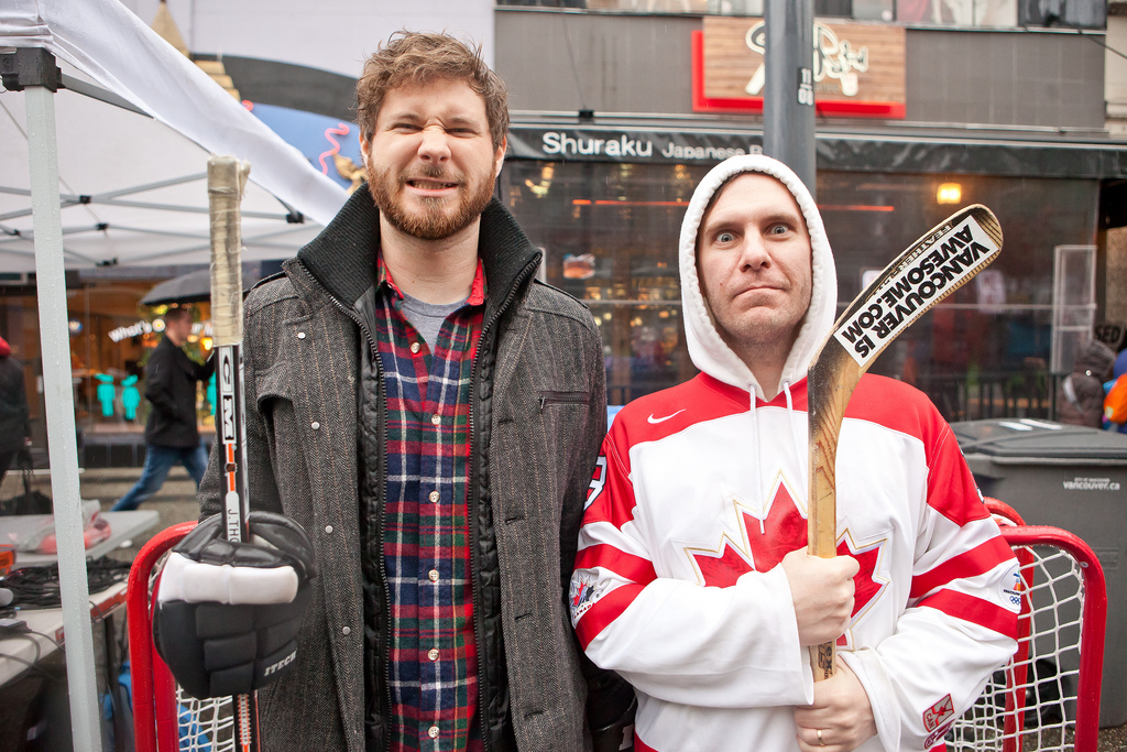 Dan Managan and Bob Kronbauer - Hockey Day In Canada Photo by KrisKrug