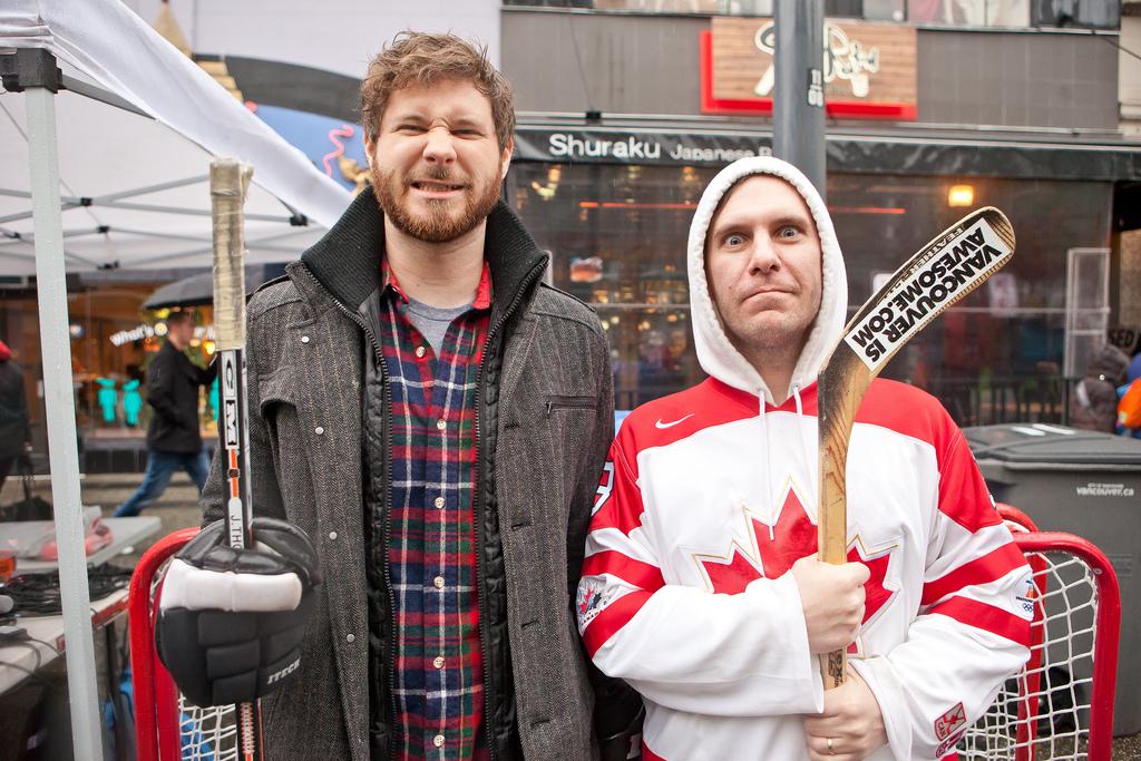 Dan Managan and Bob Kronbauer - Hockey Day In Canada Photo by KrisKrug