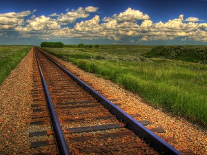 Southern Alberta Railroad Tracks
