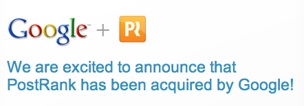 Google acquires Postrank